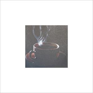 Caffè fumante, 2013, tecnica mista, cm 12x12
