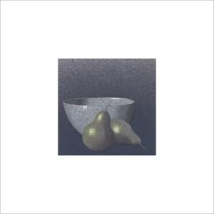 Due pere e una tazza, 2013, tecnica mista, cm 12x12