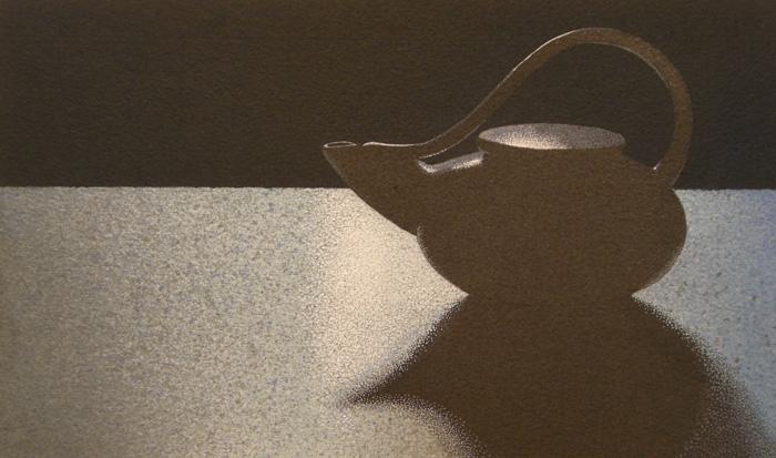 Una tazza di tè 3, 2011, tecnica mista su carta, cm 15x25