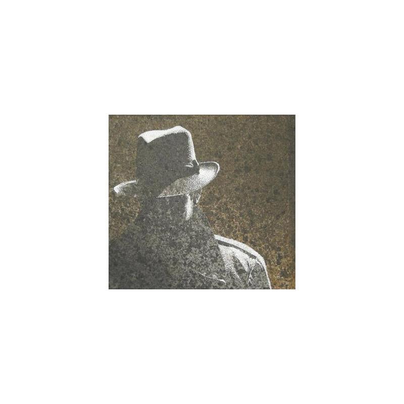 Con cappello, 2014, tecnica mista, cm 12×12