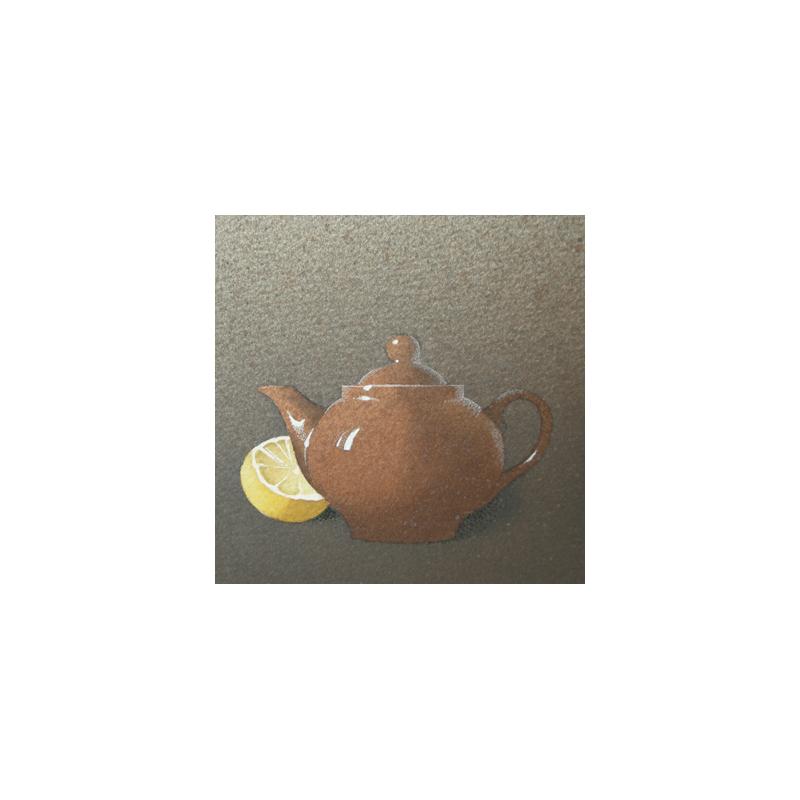 Teiera e limone, 2015, tecnica mista, cm 12×12