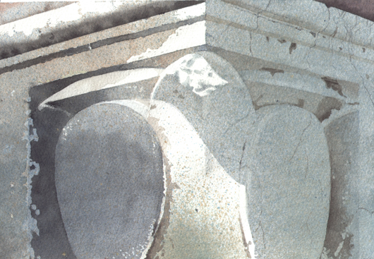 Dettaglio, 2008, tecnica mista su carta, cm 18x24