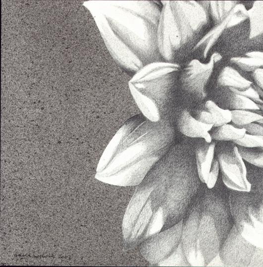 Dalia, 2007, tecnica mista su carta, cm 25x25