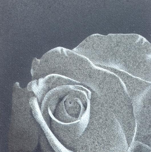 Rosa 4, 2010, tecnica mista su carta, cm 20x20