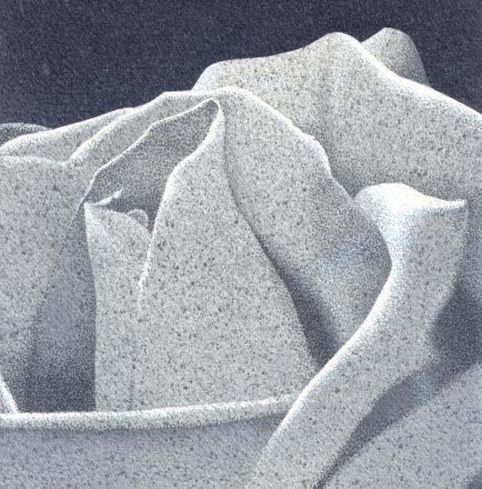 Rosa 1, 2010, tecnica mista su carta, cm 20x20