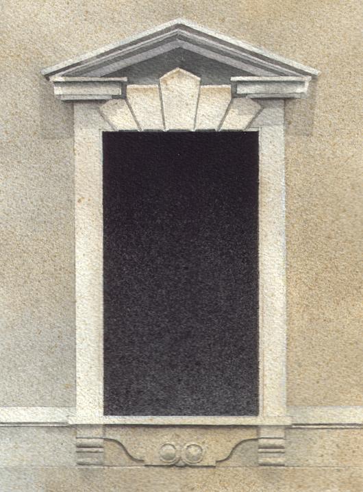 Finestra 7, 2008, tecnica mista su carta, cm 18x24