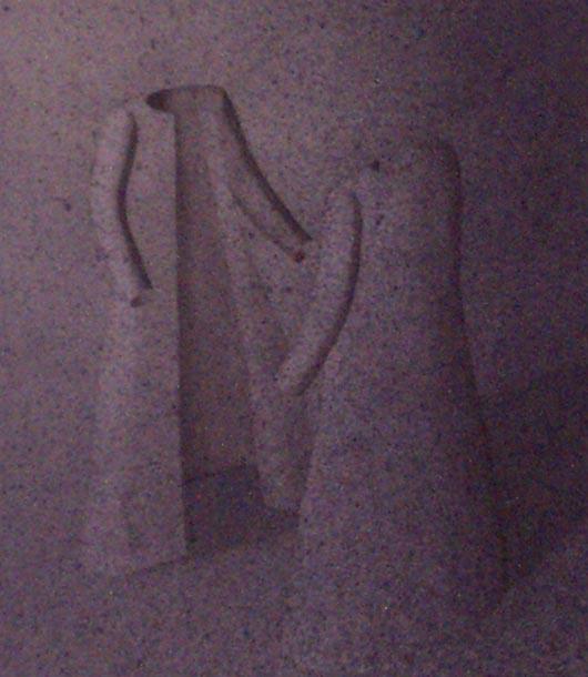 Allo specchio, 1997, tecnica mista su carta, cm 20x30
