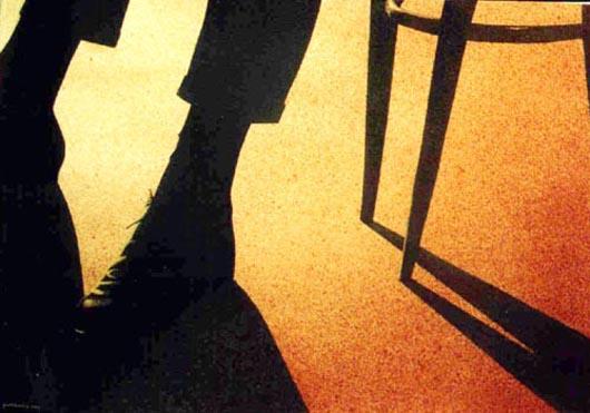 La luce, 2002, tecnica mista su carta, cm 36x51