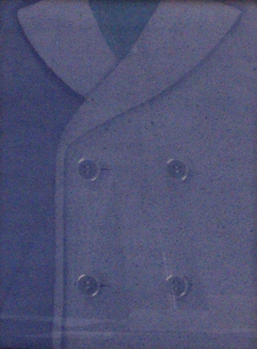 Doppio petto, 1996, tecnica mista su carta, cm 20x30
