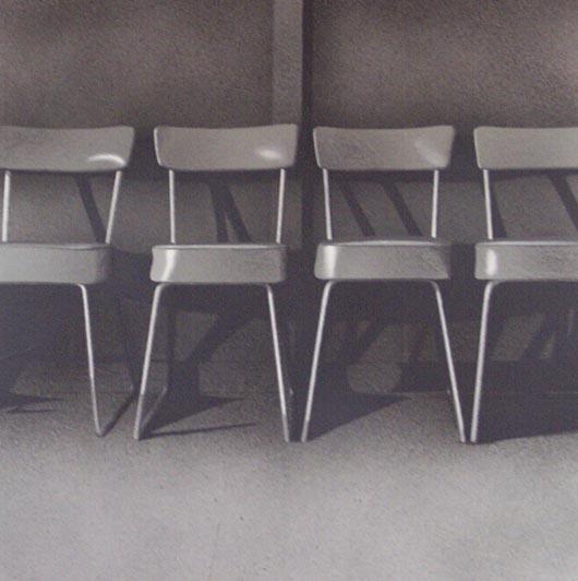 Quattro, 2002, tecnica mista su carta, cm 100x100