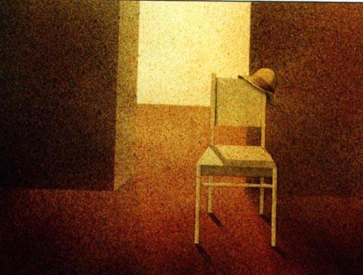 Sedia, 2001, tecnica mista su carta, cm 26x36