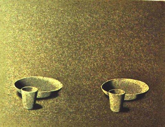 Per due, 2001, tecnica mista su carta, cm 21x31