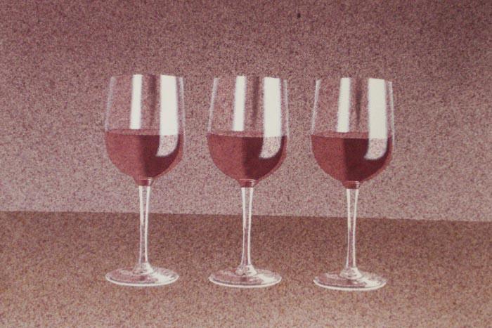 Calici, 2002, tecnica mista su carta, cm 31x51