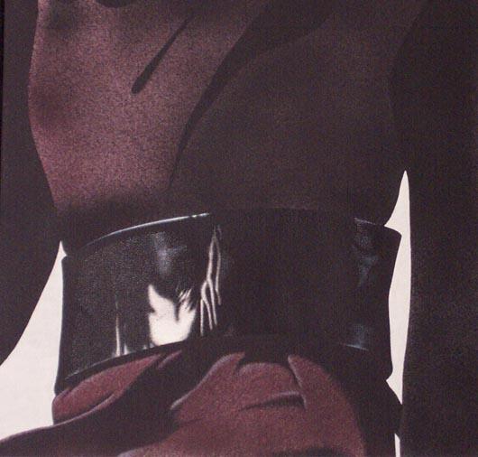 Cappotto rosso, 2002, tecnica mista su carta, cm 51x51