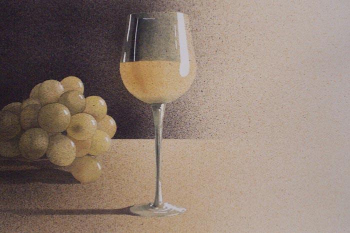 grappolo giallo, 2002, tecnica mista su carta, cm 31x51