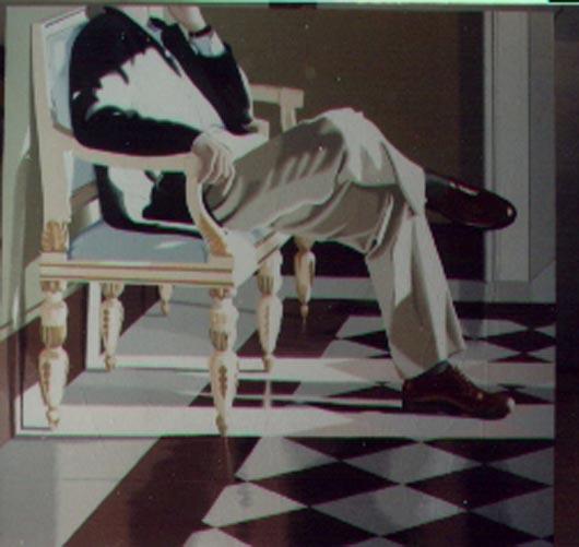 9, 1994, tecnica mista su carta, cm 100x100