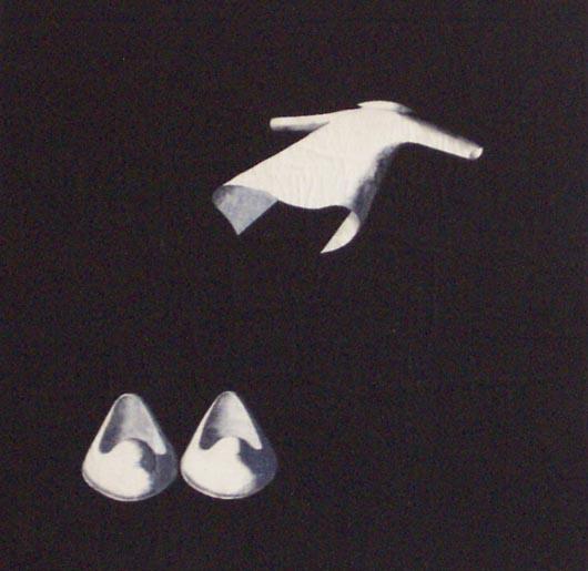 Ti lascio le mie, 1997, tecnica mista su carta, cm 25x25