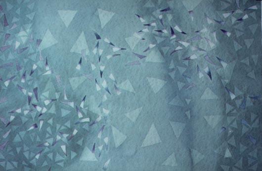 Rarefazione, 1989, acquerello, cm 30x50