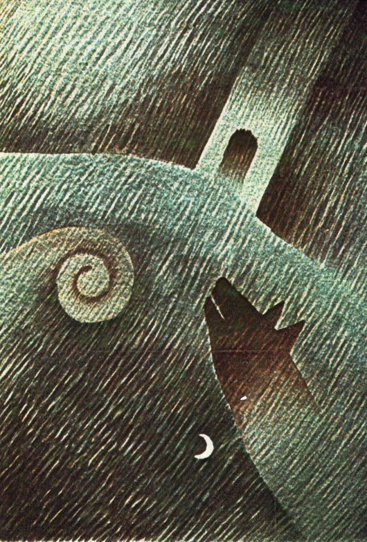 Ulula, 1986, acquerello, cm 30x50