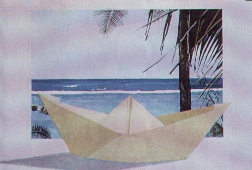 Barchetta, 1986, acquerello, cm 20x30