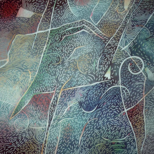 Organico, 1988, olio su tavola, cm 100x100
