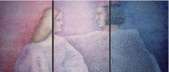 Isabella, 1989, tecnica mista, cm 40x90