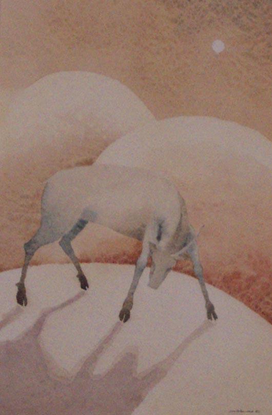 Cervo, 1987, acquerello, cm 35x50
