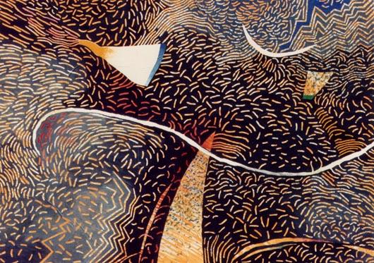 Elettrico, 1988, olio su tavola, cm 50x70