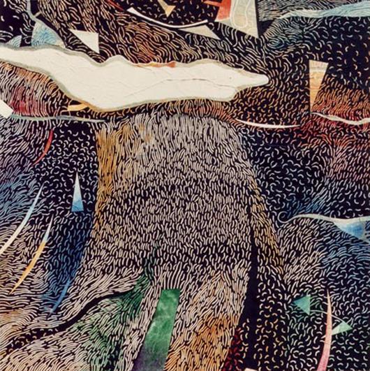 Pioggia, 1989, olio su tavola, cm 100x100