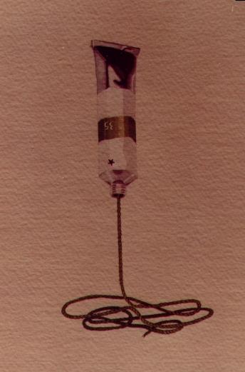 Tubetto, 1980, acquerello, cm 20x30