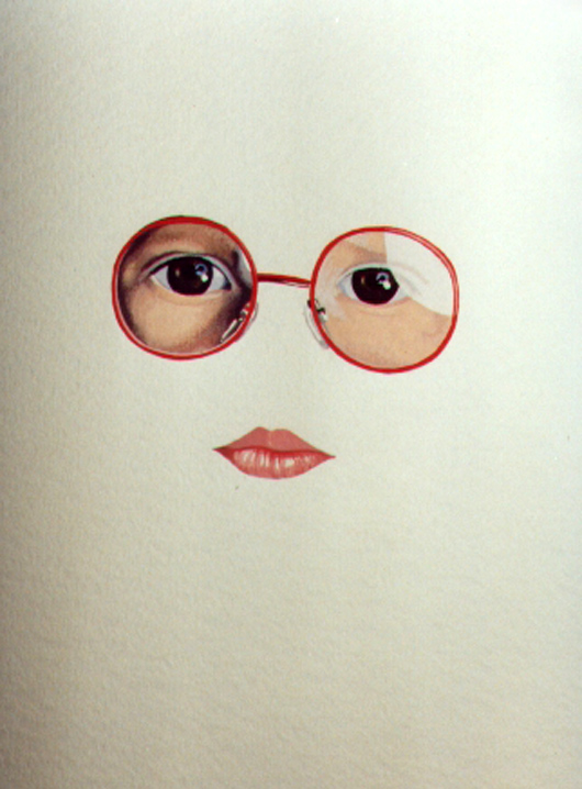 Occhiali, 1983, acquerello, cm 20x30