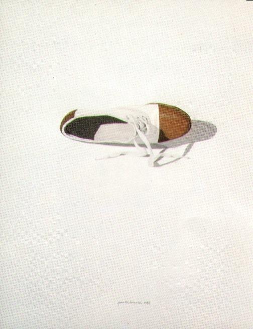 Scarpa bicolore, 1980, acquerello, cm 25x30
