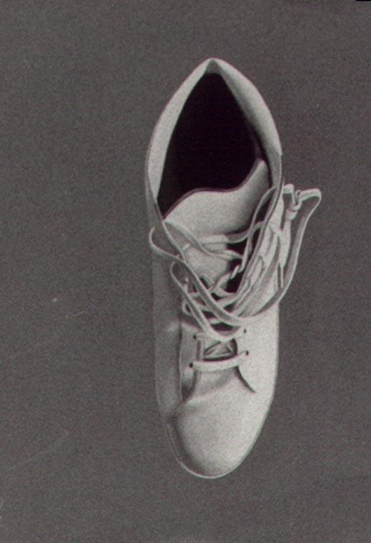 Scarponcino bianco, 1983, acquerello, cm 30x50
