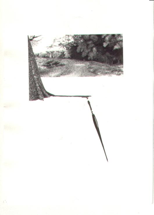 Paesaggio dipinto, 1982, acquerello, cm 20x30