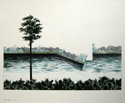Argine, 1972, inchiostro, cm 35x50