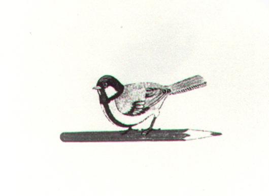 Uccellino, 1981, incisione, cm 20x30
