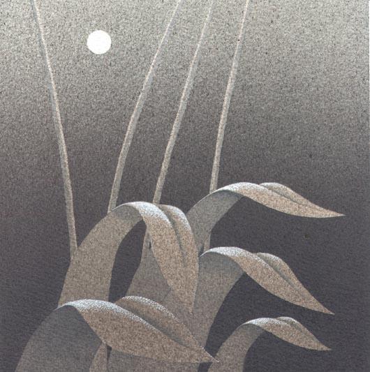 Chiarore, 2013, tecnica mista su carta, 20x20cm