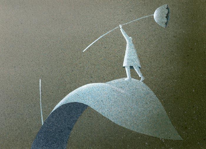 Spezzato, 2013, tecnica mista su carta, 22x30cm