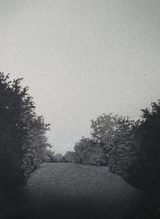 Maryon Park, 2012, tecnica mista su carta, 24x33 cm
