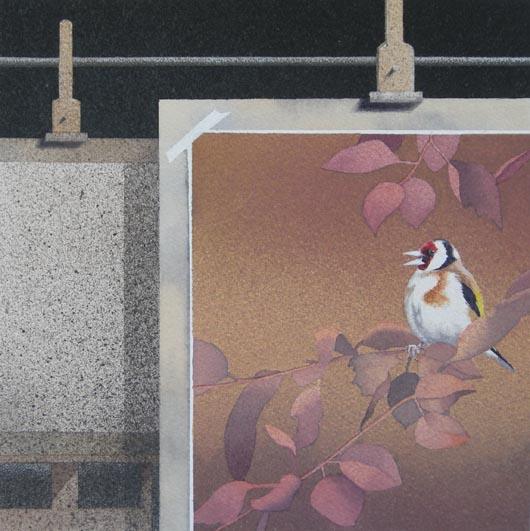 Ritratto, 2012, tecnica mista su carta, 23x23cm