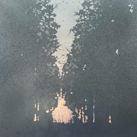 Tramonto, 2011, tecnica mista, cm 30x30