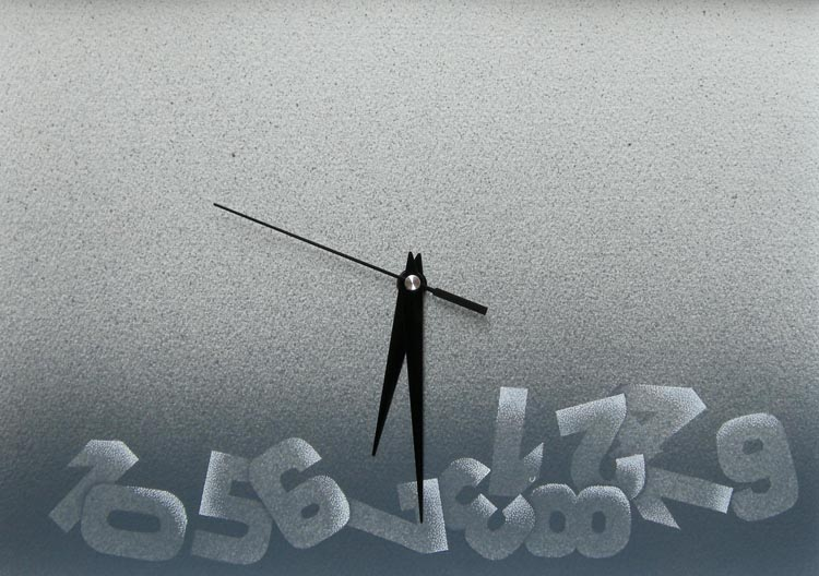 Non c'è più tempo, 2014, tecnica mista su carta, cm 23x36