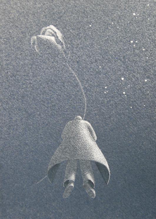 A destra le stelle, 2014, tecnica mista, cm 18x13