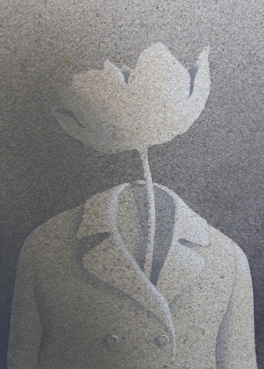 Il giardiniere, 2014, tecnica mista, cm 18x13