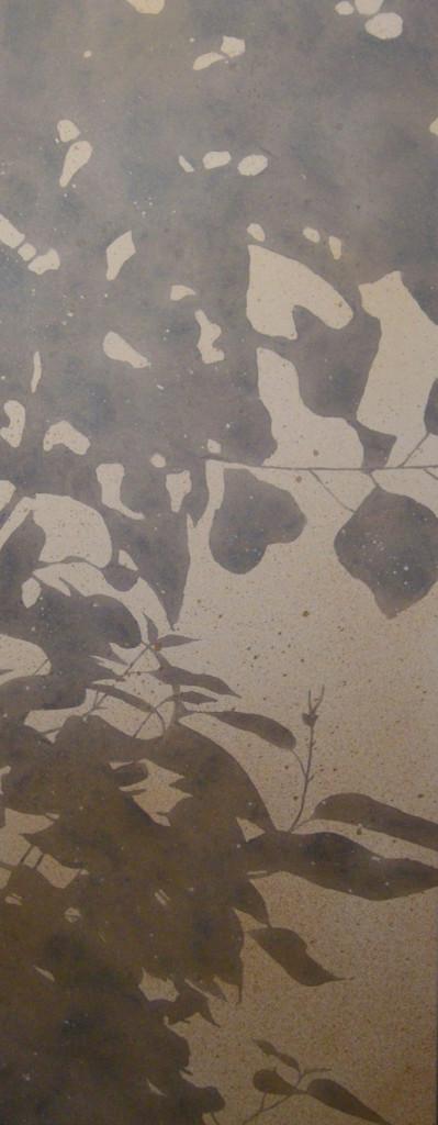 L'ombra, 2015, tecnica mista su tela, cm 40x100