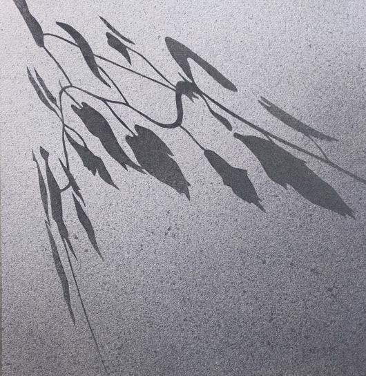 Radente, 2016, tecnica mista su carta, cm 39x39