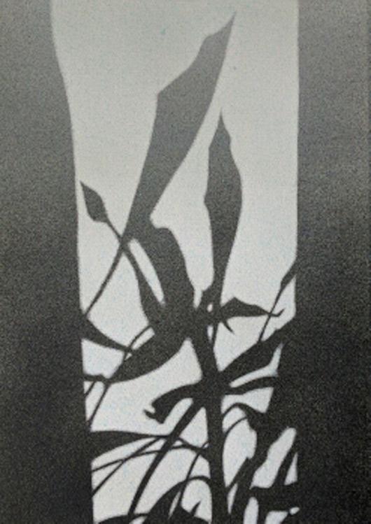 Sipario, 2016, tecnica mista su carta, cm 35x50