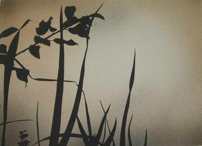 Tramonto, 2011, tecnica mista su carta, cm 50x70