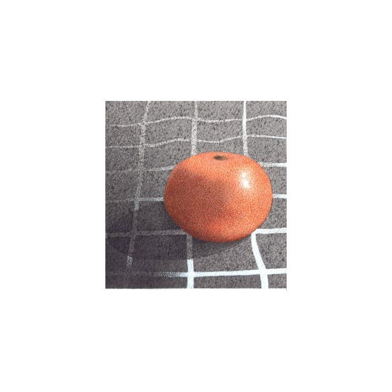 Mandarino, 2013, tecnica mista, cm 12×12