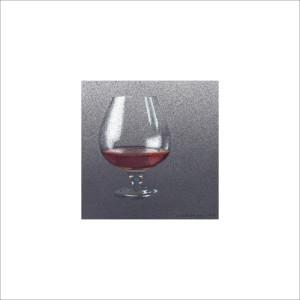Un dito di vino, 2013, tecnica mista, cm 12x12